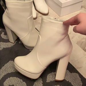 Amazing Lace Shoes - Amazing Lace White Platform Bootie